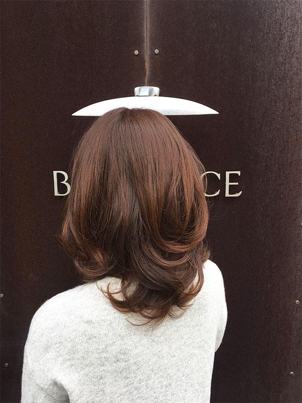 白楽の美容院ブリアンス ミディアムカーリースタイル