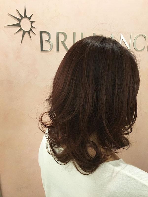 白楽の美容院ブリアンス ミディアムレイヤースタイル