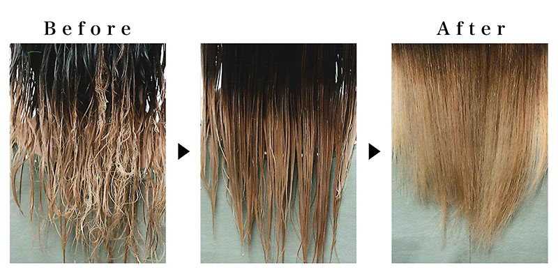 白楽の美容院(美容室)ブリアンス ビビり毛の修正イメージ